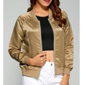 Jackets & Blazers - Gold Bomber Jacket